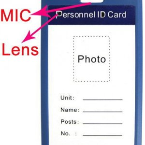 Blue Color Work Permit ID Card Mini Spy Camcorder